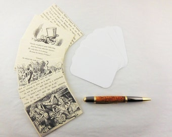 Recycled Book Notecards | Mini Notecards | Alice in Wonderland | Alice Notecards | Mini Note Card | Gift card holder | Gift Enclosure