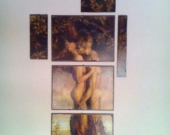 Male and Female Couple, Tree Of Life, Mothers Day Gift, Wall Art, Home Decorative, Renaissance, Art Dusk, Home Decoration, Fertility