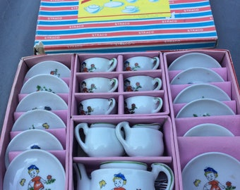 Childs Toy China Tea/Dinner Straco in box Marked Japan 30 Pieces NOS