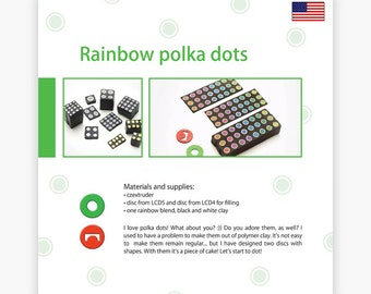 Rainbow polka dots - Czextruder guide by Lucy [EN]