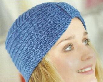 Crochet Turban Hat Crochet Pattern PDF Instant Download