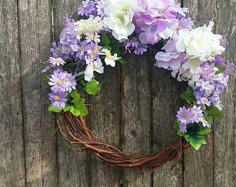 Easter spring home decoration wreath door hanger wall hanger hydrangea Willow Vine floral wreath