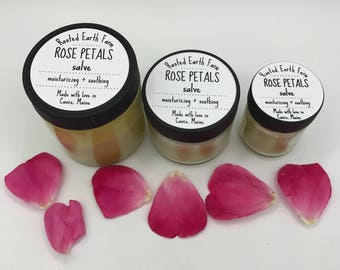 Organic Rose Salve, Rose Scented Cream, Rose Scented Salve, Rose Lip Balm, Rose Moisturizer, Rose Salve, Gift for Her, Healing Salve, Roses