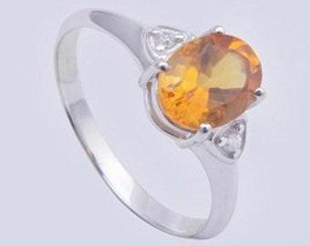 Citrine ring,925 silver ring,Handmade ring,sterling silver ring,charming ring
