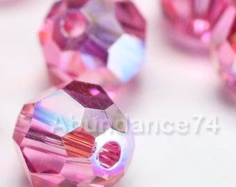 24 pcs Swarovski Elements - Swarovski Crystal Beads 5000 4mm Round Ball Beads - ROSE AB