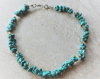 Howlite Nugget Beaded Necklace