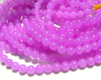 Orchid Purple Jade 8mm Beads FULL STRAND