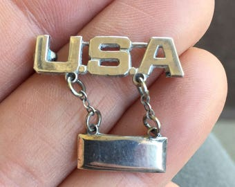 SALE! Vintage Sterling USA LT Lieutenant Bar Pin