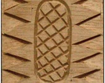 Carved Textile Stamp, African Design, Oshiwa Wood Printing Block, Item 10-17-8