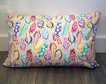 Flip Flop Pillowcase - fits 13 x 18 Travel or Toddler Pillow