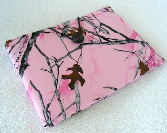 """Pink Truetimber Print, 8 Inch Tablet Cover, Samsung, Nook, Kindle. 8 Inch Tablet Sleeve, 8 Inch Tablet Case, Small Tablet Cover, 9"""" x 6 1/2"""""""