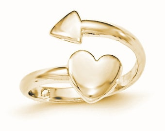 Heart with Arrow Toe Ring (JC-1112)