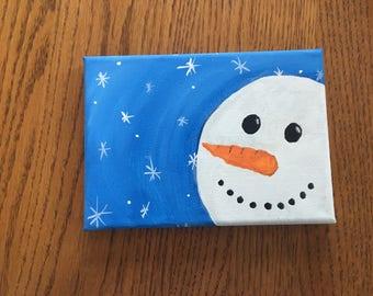 Snowman Winter Canvas