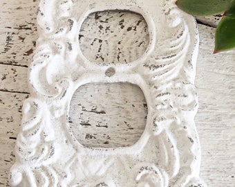 Cast Iron Decorative Outlet Cover, Wall Outlet, French Decor, Shabby Chic Room