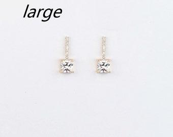 Drop Circle Hoop Stone Earrings Jigsaw Bzy1sAY0t