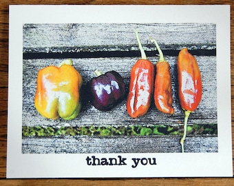 Harvest Thanks, a set of 8 handmade thank you cards with envelopes