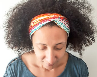 NEW **Funky Colourful Spots and Stripes Twist Style Yoga Headbands