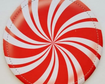 Peppermint Swirl HOME sign O