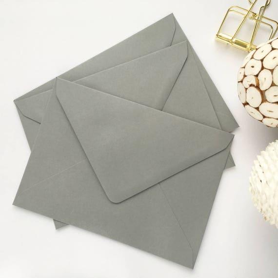 100 5x7 Grey Envelopes A7 Wedding Invitation Envelopes Bulk