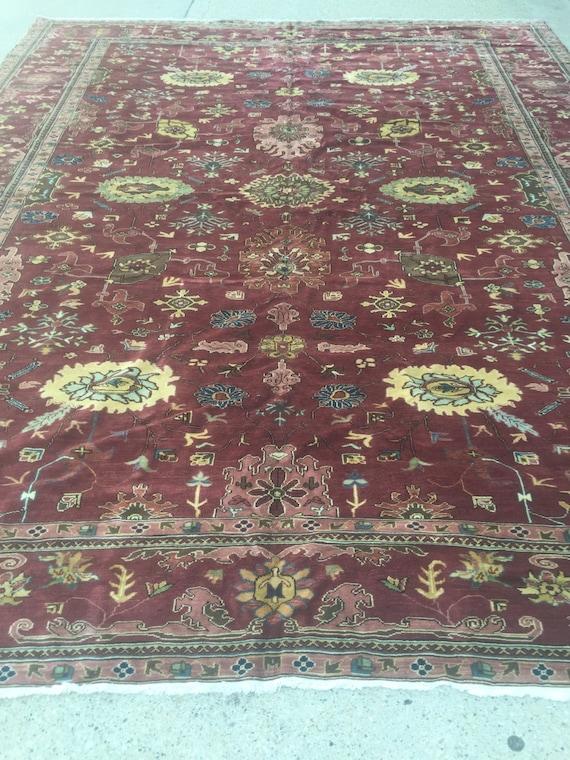 "10'7"" x 13'4"" Egyptian Agra Oriental Rug - Hand Made - Very Fine - Vegetable Dye - 100% Wool"