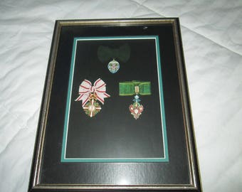 Austrian star -cross order, Austrian order of Elisabeth,class II, Austrian badge of the Corp. of Tyrol register Photos in frame