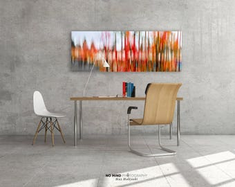 Autumn Dream 1 • Fine Art Print • Giclée Print • Canvas Wrap • Abstract Photo • Photography • Fall Colors Red Orange Black • Wide Panoramic