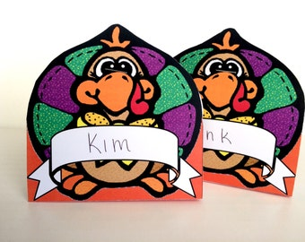 Thanksgiving Turkey Place Card Printables