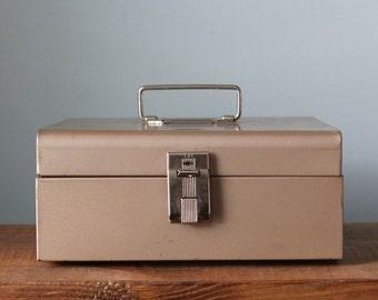 Vintage Industrial Curmanco Metal Lock Box