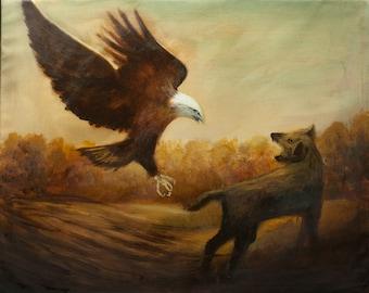 Sky Hunter(Resident Evil) - oil painting