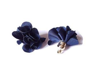 Dark blue fabric tassel