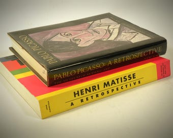 Vintage Mid Century Art Coffee Table  Books Picasso Matisse
