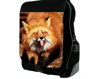 Happy Fox Cub  - Backpack and Pencil Bag Set