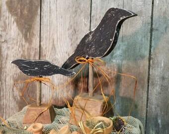 Primitive crow blackbird set.