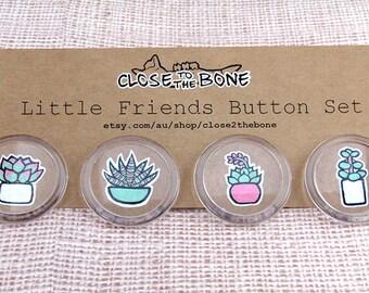 Little Friends Button Set