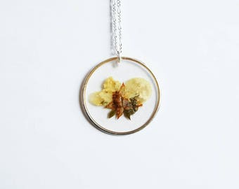 Yellow Buttercup Flower Pendant