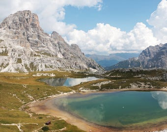 Dolomite Alps Mountains Italy Art Print Wall Decor Image Detail - Unframed Poster