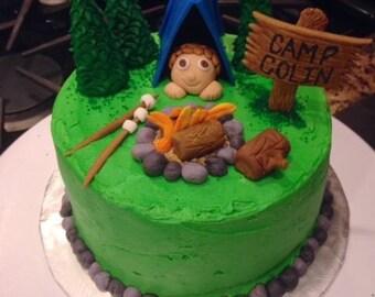 Happy Camper Cake Topper Set