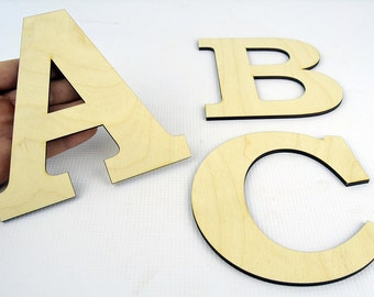 XXL Wooden Letters / Wall Hanging / Nursery Decor / Alphabet Wall