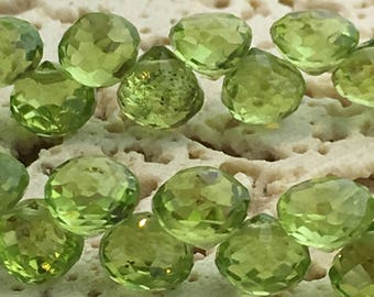 Peridot AAA Faceted Onion Briolettes