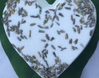 Lavender Bath Bomb - heart shaped bath bomb