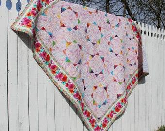 Handmade Modern Spring Patchwork Quilt