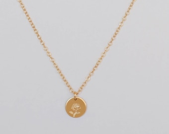 Enchanted Rose/Belle/Beauty and the Beast Single Disc Necklace