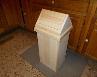 Quick View. Handcrafted Wood 13 Gallon Kitchen Trash Can ...