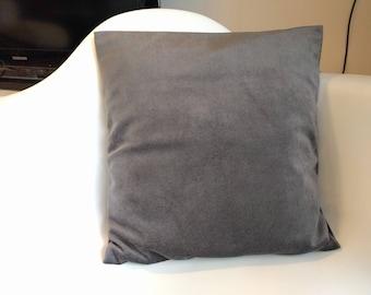 50 x 50 Grey Velvet pillow cover