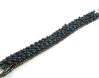 Wild Berries beadweaving beaded bracelet instructions tutorial: Instant Downloadable Pattern PDF File