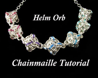 Chainmaille Tutorial for Helm Orb PDF Instructions Only