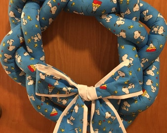 Snoopy Wreath - Snoopy and Woodstock - Peanuts Wreath - Handmade