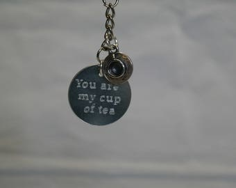 You are my cup of tea key ring with tea cup charm on sale lovers gift friend gift tea lovers