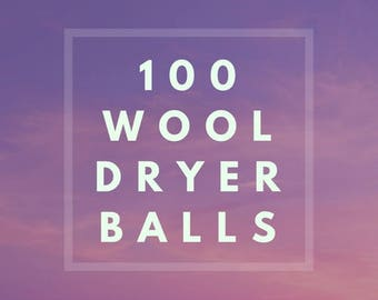 100 Wool Dryer Balls, Wool dryerballs, Wholesale wool dryer balls, Bulk wool, Felted wool Dryer balls, Wholesale, Co-Op, Discounts