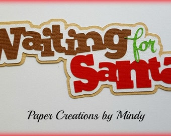 Elite4u Mindy Christmas Santa Premade paper piecing for scrapbook page embellishment